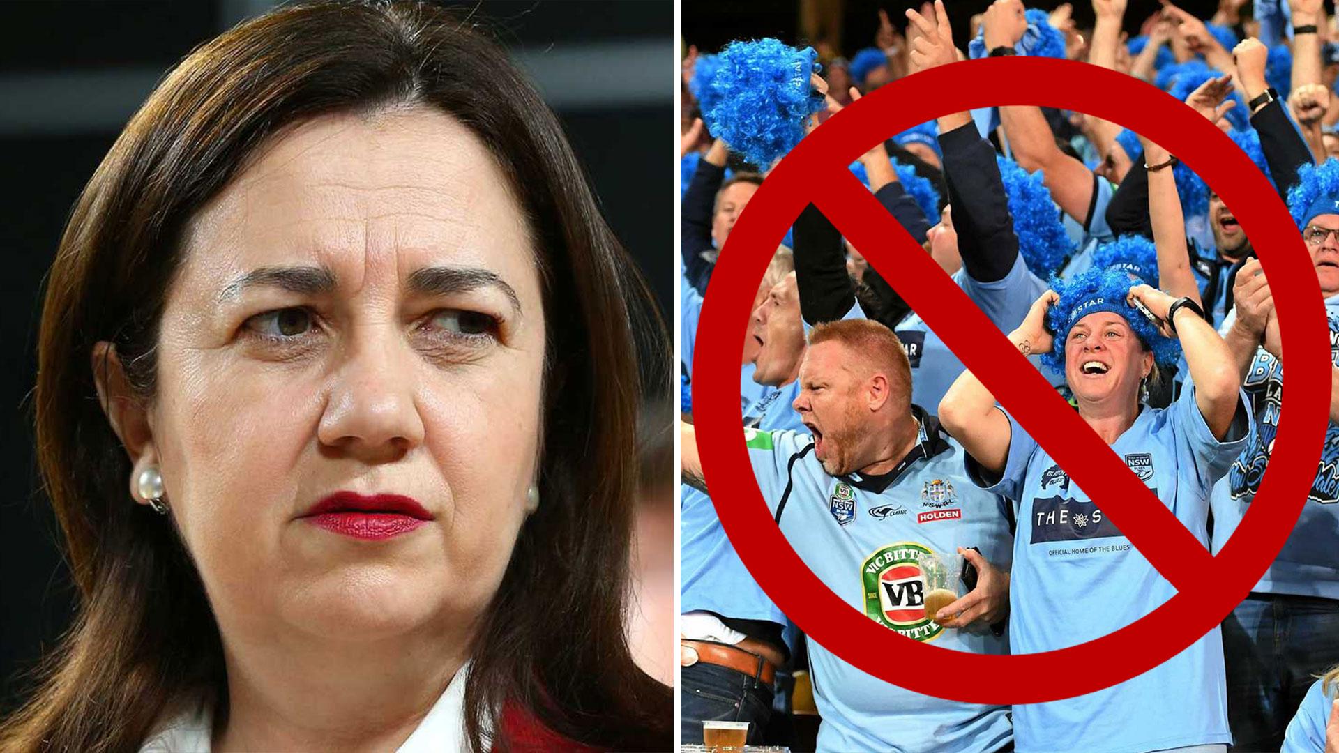 Palaszczuk Bans NSW Fans From Attending Brisbane Origin ...